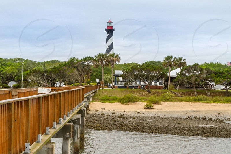 Exterior and Dock leading to St. Augustine Lighthouse in St. Augustine Florida photo