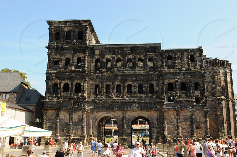 roman building Trier. former used as a church. old town gate. photo