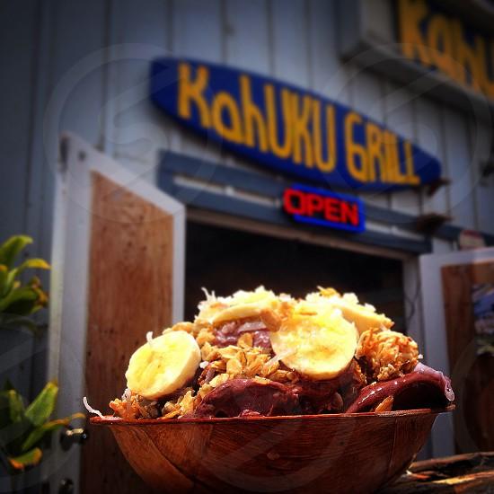 Açaí bowl at kahuku grill on the north shore HAWAII photo