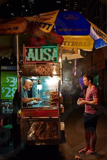 Halal food truck in NYC photo