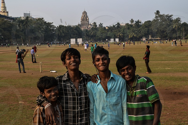 Children in Bombay India photo