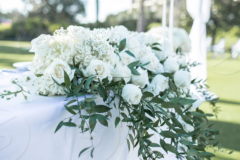 White roses bouquet photo