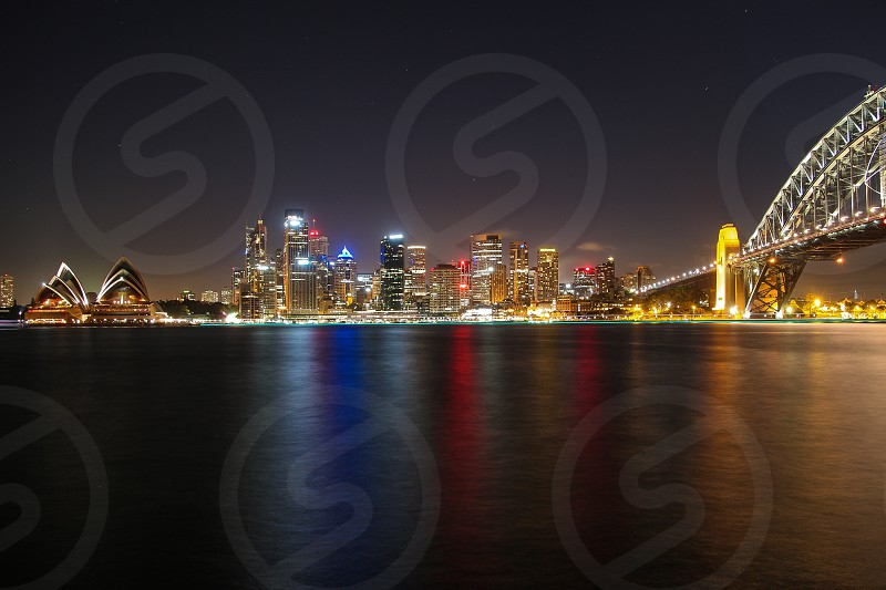 Sydney by night panorama photo