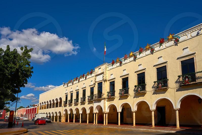 Valladolid city arcs arcade in Yucatan Mexico photo