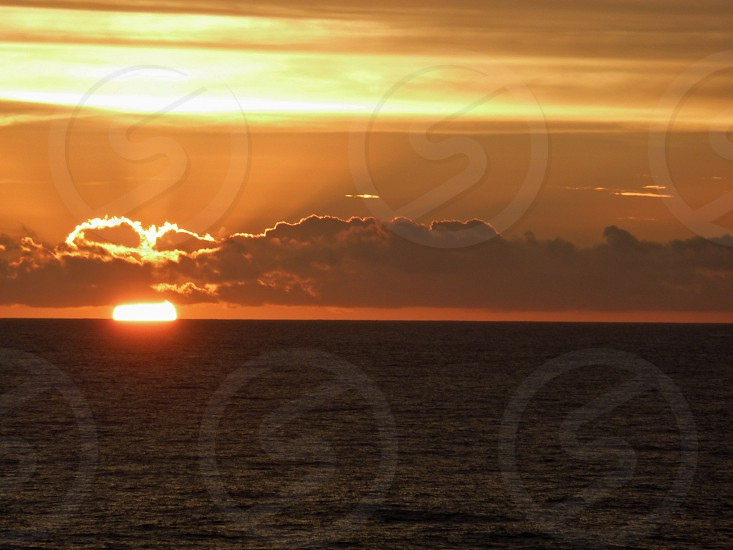 Sunset over the Pacific Ocean photo
