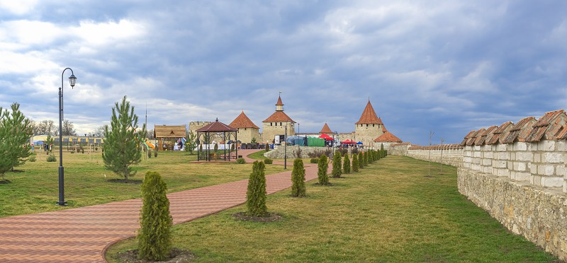 Bender Moldova - 03.10.2019. Alexander Nevsky Park on the territory of the historical architectural complex of the ancient Ottoman Citadel in Bender Transnistria Moldova. photo
