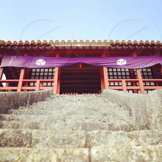 red oriental temple photo