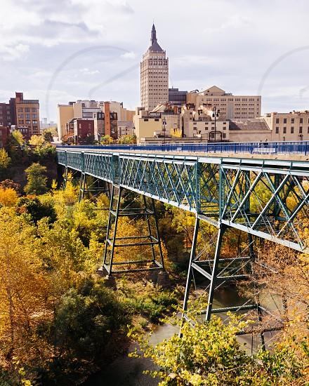 Vibrant fall foliage hits downtown Rochester NY. photo