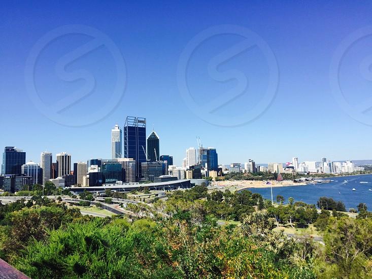 Beautiful city beautiful blue sky  photo
