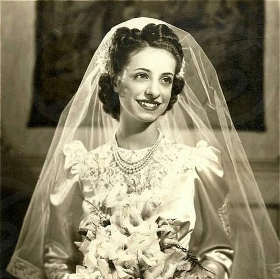 My beautiful grandma on her wedding day! photo