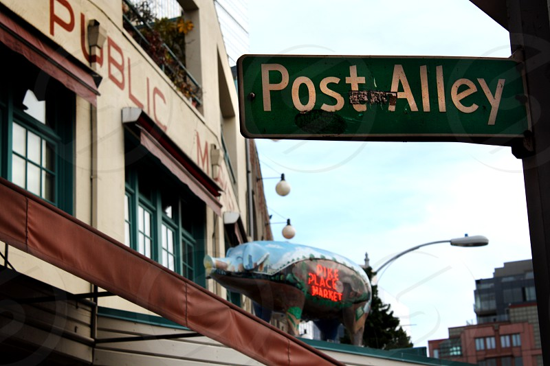 Post Alley Seattle Pike Place Market Public Market Farmer's Market photo