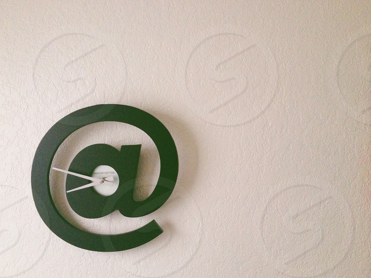 green letter a wall decoration photo