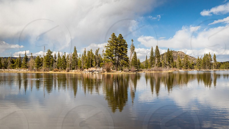 Impressions around the Sprague Lake in the Rocky Mountains Nationalpark photo