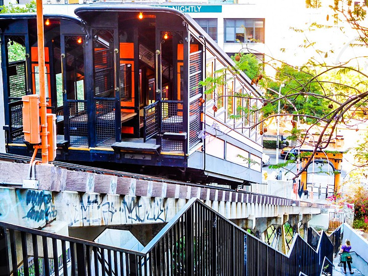Angels flight DowntownLA Bunkerhill Historical landmark photo