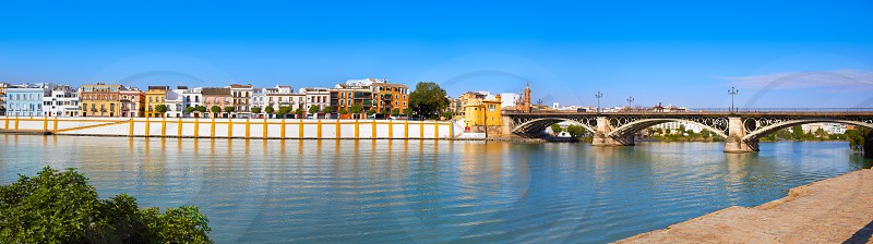 Triana barrio of Seville panoramic Andalusia Sevilla Spain photo