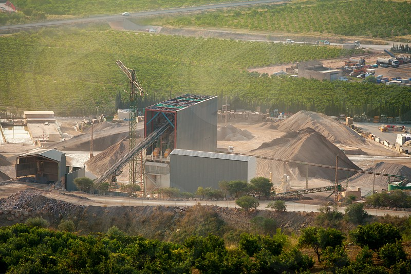 Arid crushing quarry in Castellon province at Valencian Community of Spain photo