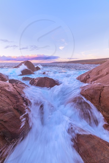 Rough ocean at Torpedo Rocks photo