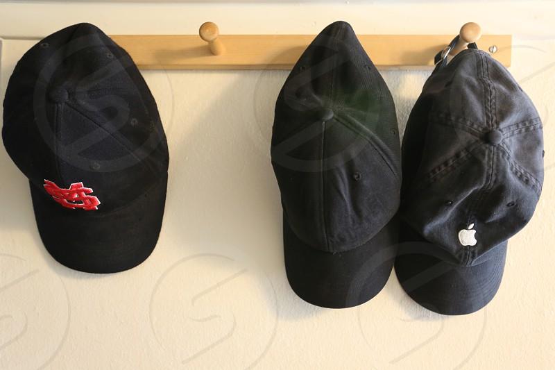 3 hats  on a 4 hook hat hook photo