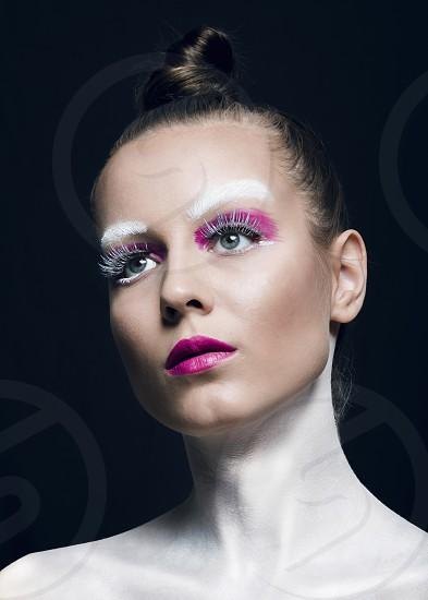fashion art makeup girl hot photo