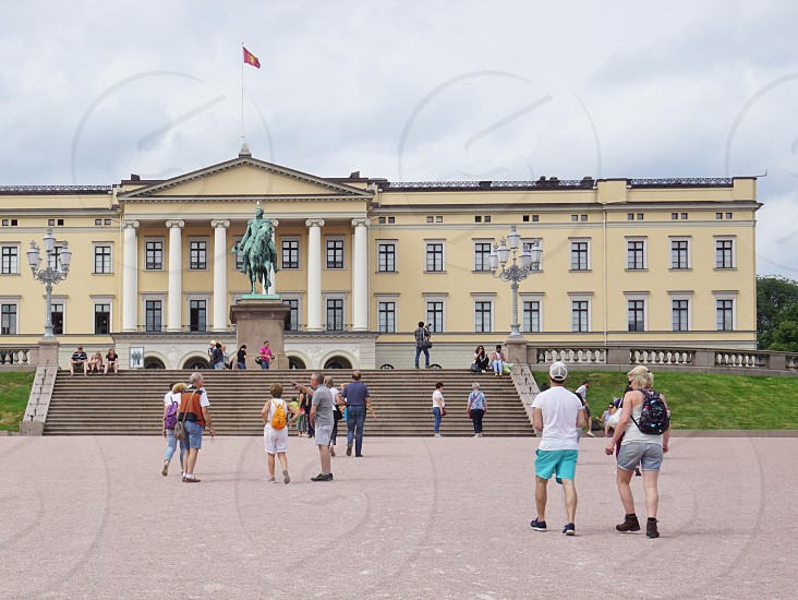 The Royal Palace in Oslo Norway photo