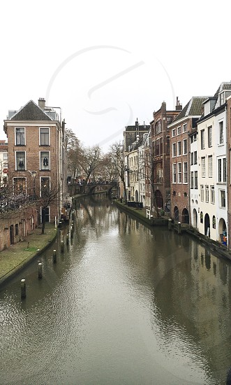 Beautiful view of a canal in Utrecht Netherlands photo