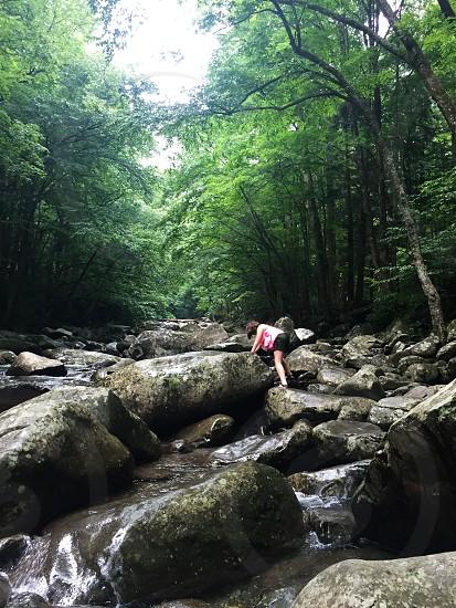 Rocks mountains river photo