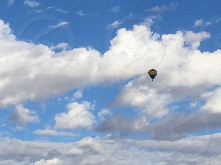 Balloon hot air balloon clouds cloudy sky photo
