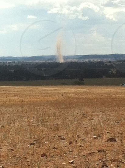Whirley wind central west NSW photo