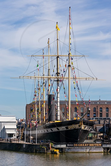 BRISTOL UK - MAY 13 : View of the SS Great Britain in dry dock in Bristol on May 13 2019 photo
