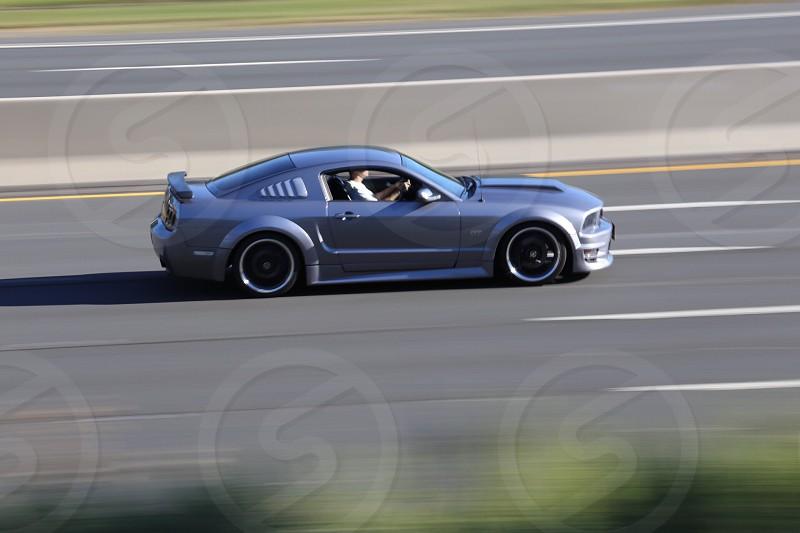Speeding Mustang photo