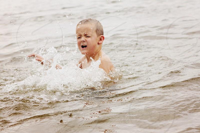 Lake swimming is fun photo