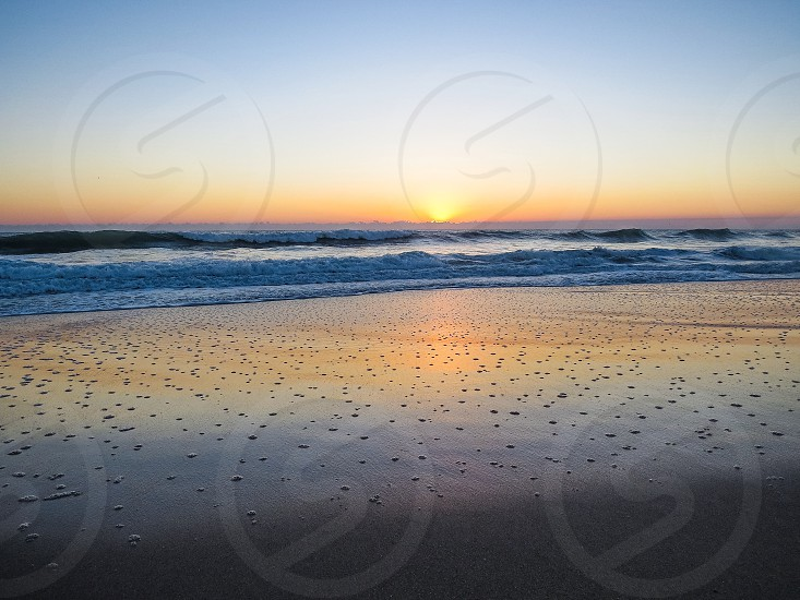 Beach ocean vacation waves nature sunrise calm summer spring Florida saltlife  photo