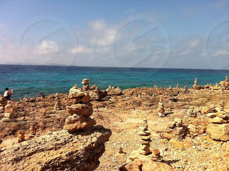 Majorca -stacked stones photo