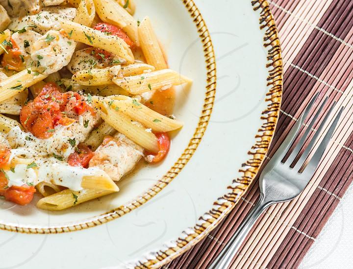 caprese  chicken pasta  photo