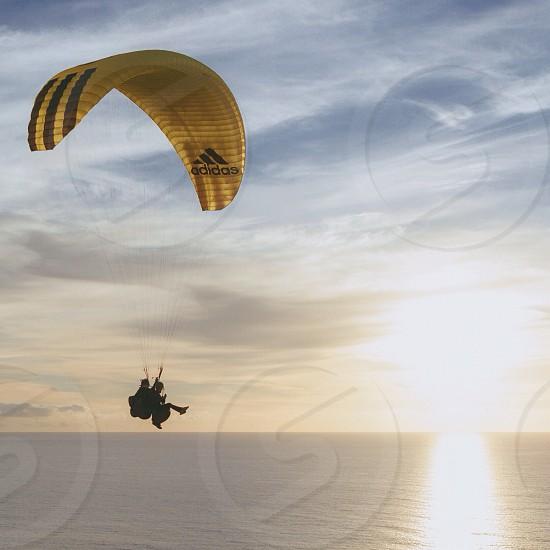 yellow adidas parachute photo