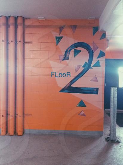 orange floor 2 photo photo