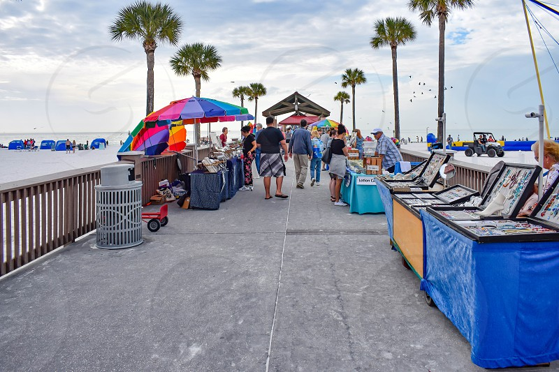 Clearwater Beach Florida. January 25 2019 Crafters in Piere 60 at Gulf Coast Beaches. photo
