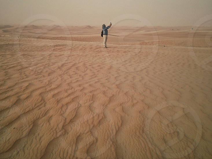 Exploring the dunes of Liwa photo