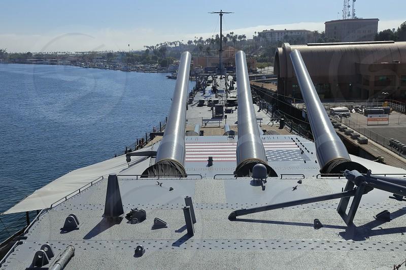 Battleship USS Iowa museum Los Angeles photo