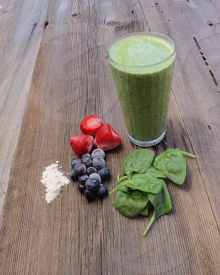 Green smoothie photo