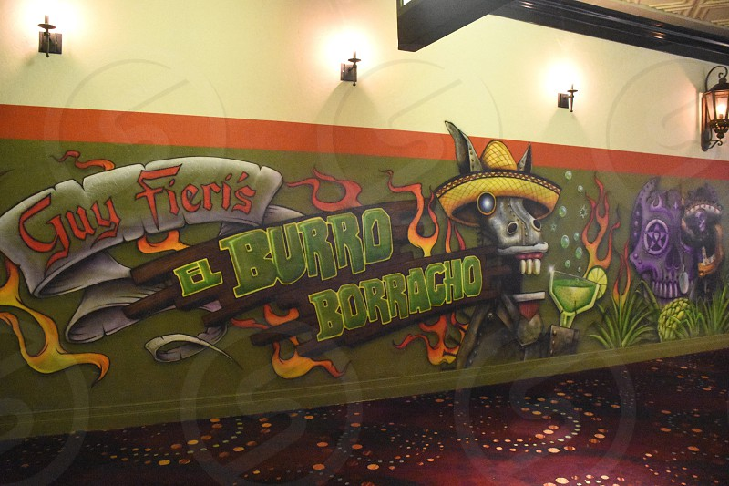 guy fieri's el burro borracho mural photo