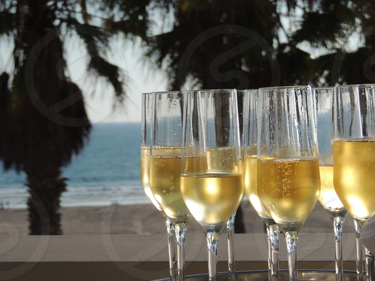 Champagne on the beach photo