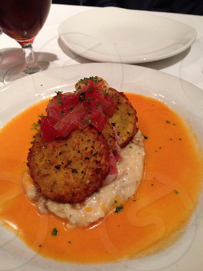 Fried green tomatoes. photo