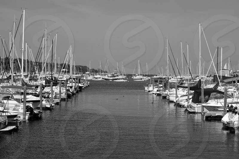 Black and white Fine Art Title:The Boats photo