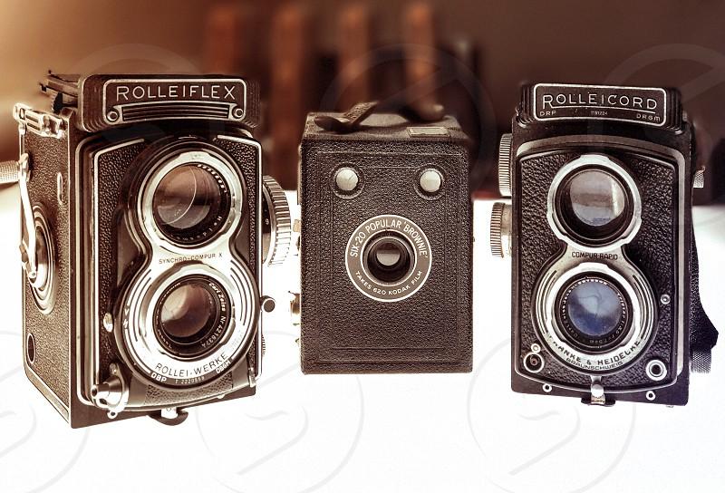 Rolleiflex  cameras medium format cameras film cameras  photo