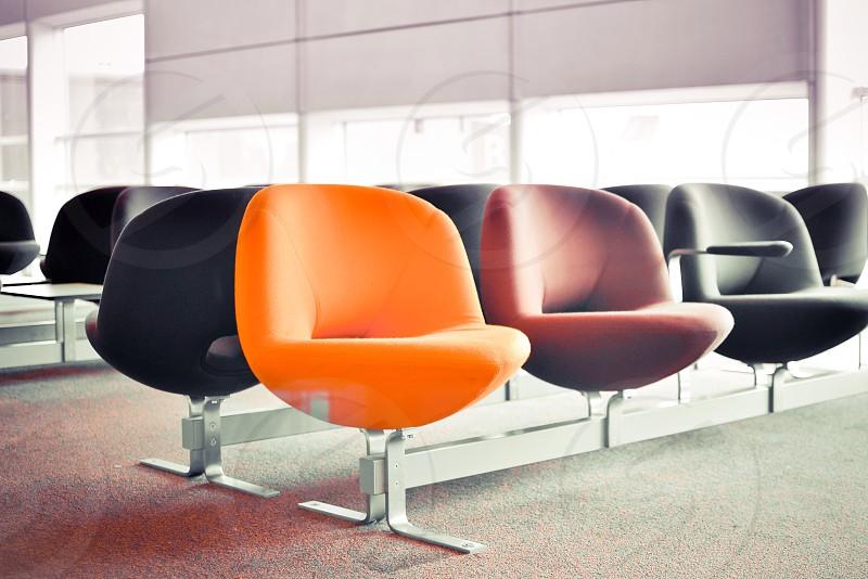 orange waiting chair photo