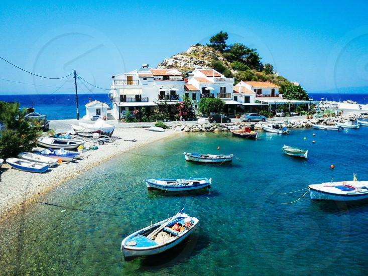 Greece Greek island Samos Kokkari town photo