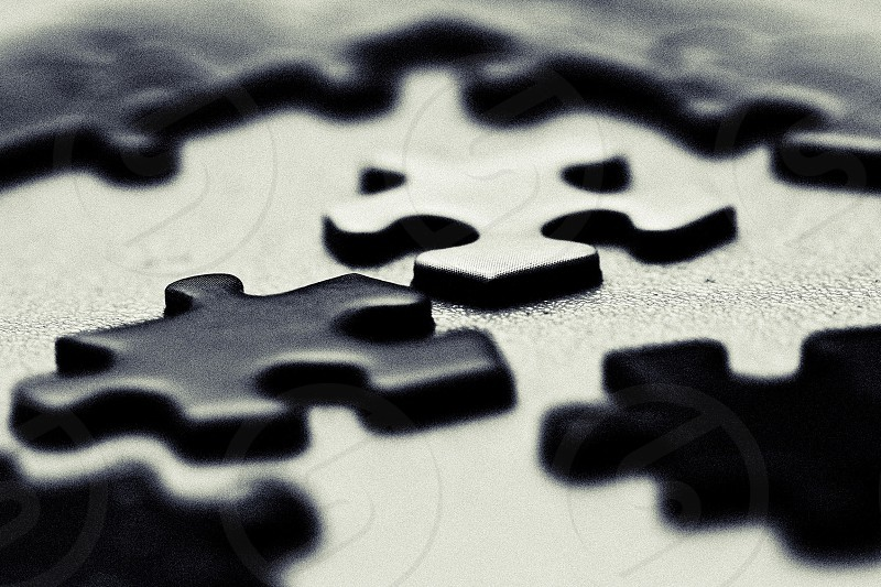 black crossword puzzle photo