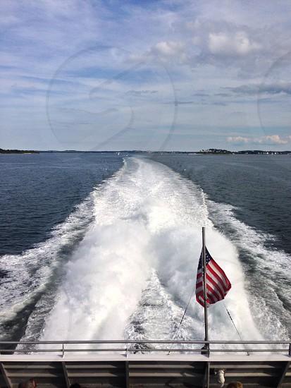 American boat ride in Boston Harbor.  photo