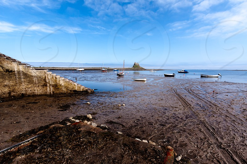 Low Tide at Holy Island photo